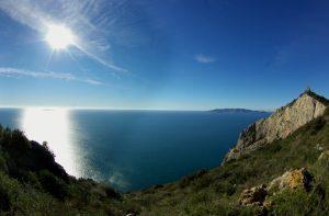 vista panoramica dalla cima dell'argentario
