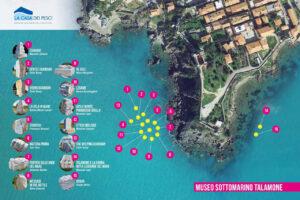 mappa sculture sottomarine